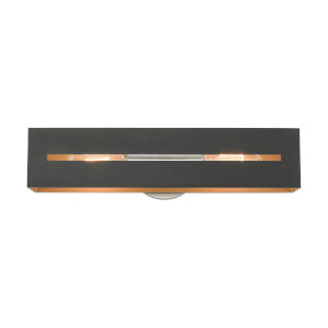 Soma Textured Black and Brushed Nickel Two-Light ADA Wall Sconce