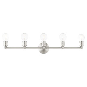 Lansdale Brushed Nickel Five-Light Bath Vanity