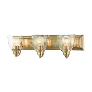 Birmingham Antique Brass Three-Light Bath Vanity Sconce
