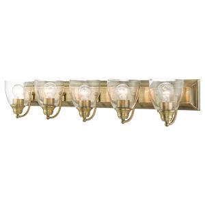 Birmingham Antique Brass Five-Light Bath Vanity Sconce