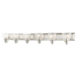 Birmingham Brushed Nickel Six-Light Bath Vanity Sconce