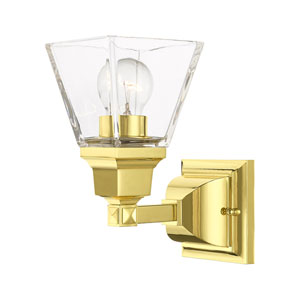 Mission Polished Brass One-Light Wall Sconce