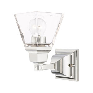 Mission Polished Chrome One-Light Wall Sconce