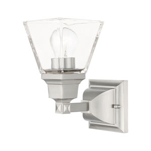 Mission Brushed Nickel One-Light Wall Sconce