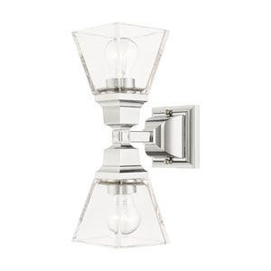 Mission Polished Chrome Two-Light Wall Sconce