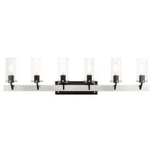 Beckett Brushed Nickel Six-Light Bath Vanity Sconce