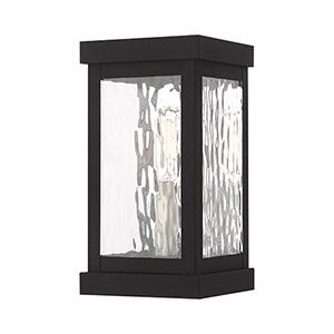 Hopewell Black 9-Inch One-Light Outdoor Wall Lantern