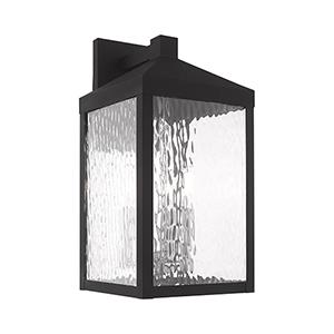 Nyack Black Three-Light Outdoor Wall Lantern