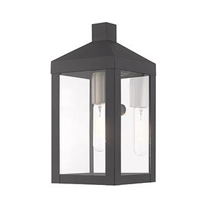 Nyack Scandinavian Gray 5-Inch One-Light Wall Lantern