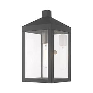 Nyack Scandinavian Gray 6-Inch One-Light Wall Lantern