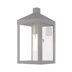 Nyack Nordic Gray 6-Inch One-Light Wall Lantern