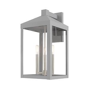 Nyack Nordic Gray 11-Inch Three-Light Wall Lantern