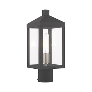 Nyack Gray Post Top Lantern