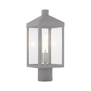 Nyack Nordic Gray Post Top Lantern