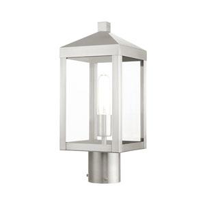 Nyack Brushed Nickel One-Light Outdoor Post Light