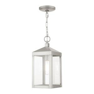Nyack Brushed Nickel One-Light Outdoor Pendant Lantern