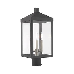 Nyack Gray Three-Light Post Top Lantern