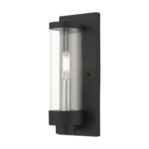 Hillcrest Textured Black One-Light Outdoor ADA Wall Sconce
