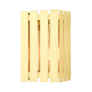Greenwich Satin Brass 10-Inch One-Light Outdoor Wall Lantern