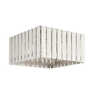 Greenwich Brushed Nickel Four-Light Outdoor Flush Mount