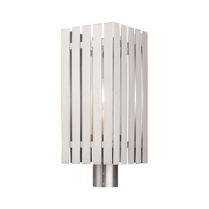 Greenwich Brushed Nickel One-Light Outdoor Post Light