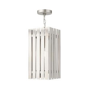 Greenwich Brushed Nickel One-Light Outdoor Pendant Lantern