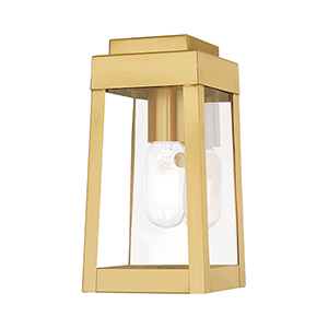Oslo Satin Brass 5-Inch One-Light Wall Lantern
