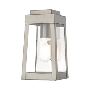 Oslo Brushed Nickel 5-Inch One-Light Wall Lantern