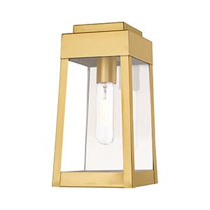 Oslo Satin Brass 6-Inch One-Light Wall Lantern
