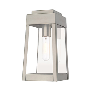 Oslo Brushed Nickel 6-Inch One-Light Wall Lantern