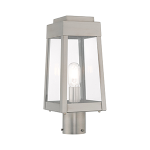 Oslo Brushed Nickel 6-Inch One-Light Post Top Lantern