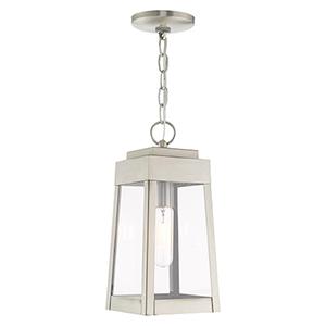 Oslo Brushed Nickel 6-Inch One-Light Pendant Lantern