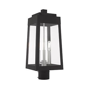 Oslo Black Eight-Inch Three-Light Post Top Lantern