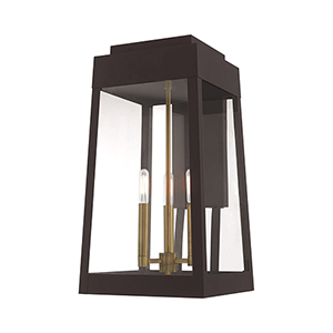 Oslo Bronze Three-Light Wall Lantern