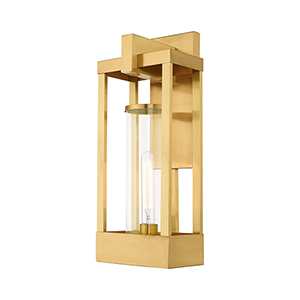 Delancey Satin Brass 20-Inch One-Light Outdoor Wall Lantern