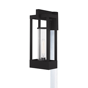 Delancey Black Post Top Lantern