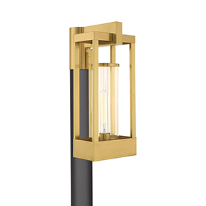 Delancey Satin Brass Post Top Lantern