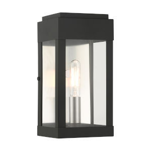 York Black One-Light Outdoor ADA Wall Sconce