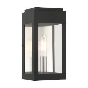 York Black One-Light Outdoor ADA Wall Sconce