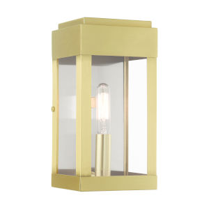 York Satin Brass One-Light Outdoor ADA Wall Sconce