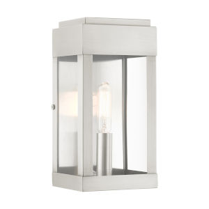 York Brushed Nickel One-Light Outdoor ADA Wall Sconce