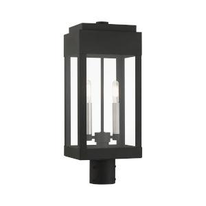 York Black Two-Light Outdoor Post Lantern