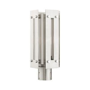 Utrecht Brushed Nickel 7-Inch One-Light Outdoor Post Light