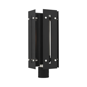 Utrecht Black and Brushed Nickel 9-Inch One-Light Outdoor Post Light