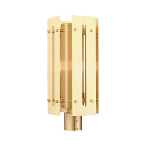 Utrecht Satin Brass 9-Inch One-Light Outdoor Post Light