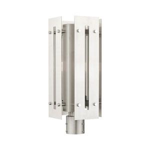 Utrecht Brushed Nickel 9-Inch One-Light Outdoor Post Light