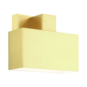Lynx Satin Brass Seven-Inch One-Light Outdoor ADA Wall Sconce