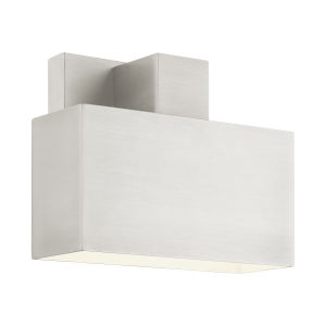 Lynx Brushed Nickel Seven-Inch One-Light Outdoor ADA Wall Sconce