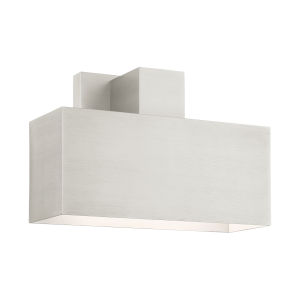 Lynx Brushed Nickel Nine-Inch One-Light Outdoor ADA Wall Sconce