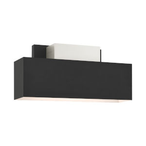 Lynx Black Two-Light Outdoor ADA Wall Sconce